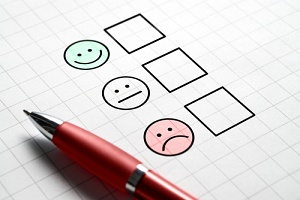 an employee engagement survey asking employees how they feel about their jobs