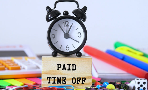 a paid time off concept to show that employees need some time off for family or medical reasons