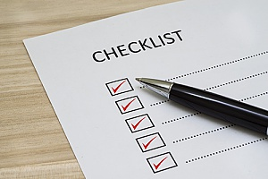 a checklist being utilized for HR compliance