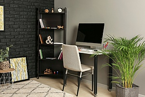 an in home office used by an employee whose boss set up remote employment through an HR consulting firm