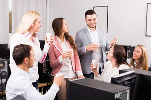 group of employees satisfied with their flexible work arrangements