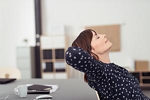 employee taking a mental health break