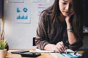Woman doing finances