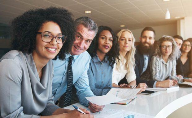 Diverse employee workforce