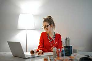 Employee working partial hours at home