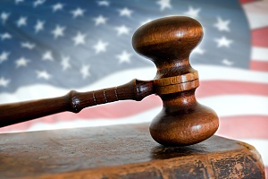 a gavel representing a presidential proclamation on immigration law