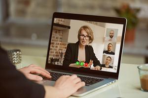 Person on employee benefits webinar