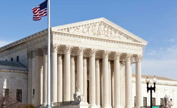 Supreme court building in D.C.