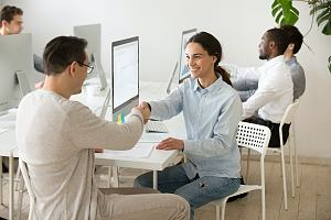 Employees respecting one another in the workplace