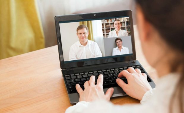 Remote employees onboarding for new job