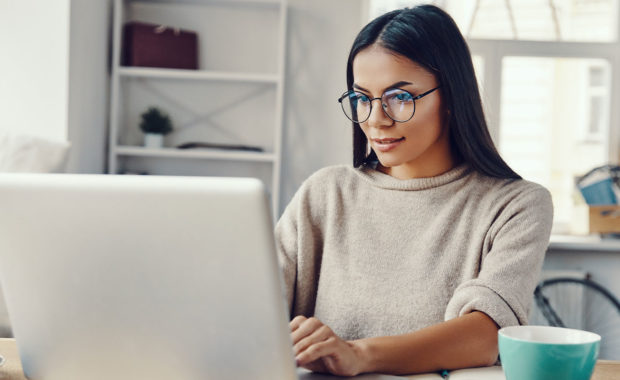 women working from home with a hybrid work model