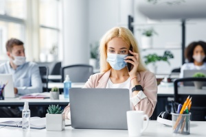 Employees In social distance since return to office