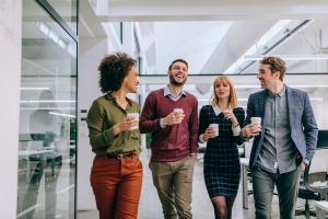 Employees taking break as part of Company Culture for Employee Engagement