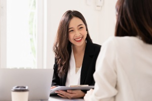 Female HR going over employee relations