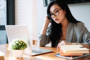 Businesswoman going over recruitment process management