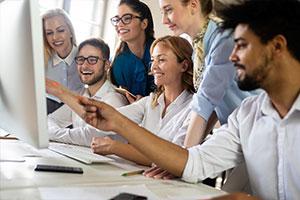 Employees happy with employee benefits